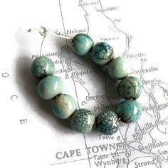 Raku Beads Ceramic Beads African Beads Pale by EarthbutterStudio, $15.00