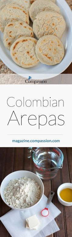Recipe: Colombian Arepas - The children in your life can help make this Colombian dish while praying for people who live in the South American country. Colombian Arepas, Colombian Dishes, Colombian Cuisine, Healthy Snacks, Healthy Eating, Healthy Dinners, Columbian Recipes, American Country, Clean Recipes