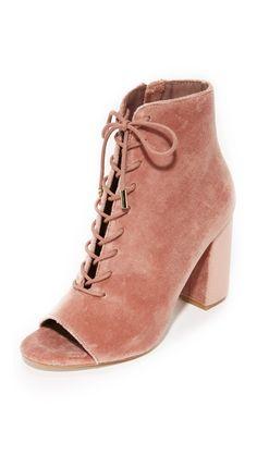 Joie peep-toe booties in luxe velvet