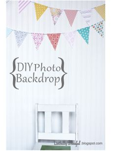 photo backdrops diy | This one is a water heater box. Any large piece of cardboard would ...