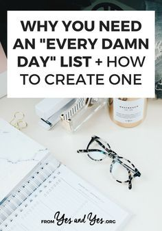 Looking for productivity tips or trying to stay positive? You might need an Every Damn Day List! Click through and see how this super simple tool can help you stay on track towards your goals, not matter what else is going on with your life! Self Development, Personal Development, Bujo, Inbound Marketing, Day List, Online Shops, Time Management Tips, Stress Management, Planner Organization