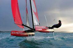 We want one! Foiling Phantom Catamaran via @SailingWorldMag