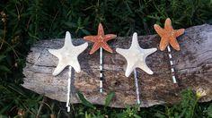 Seashell Sea Shell Hair Mini Starfish Bobby Pin Set of Four Mermaid Bridal Accessory Sea Shell Gift for Her Beach Clip Barrette by OsosCreations on Etsy