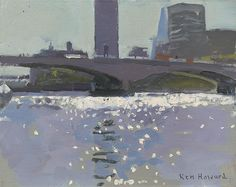 Ken Howard OBE RA - Waterloo Bridge, morning light, 2015