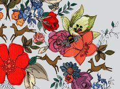 Digital wallpaper by Claire Coles