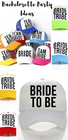 Make a statement with these super fun bride tribe trucker hats. A really fun way to run a bachelorette party!