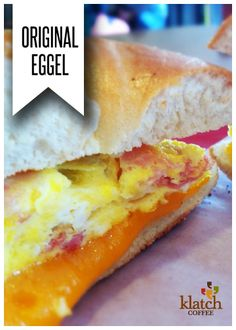egg, ham and cheddar cheese served on a toasted plain bagel