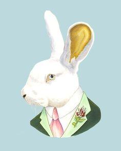 Etsy の White Rabbit print 8x10 by berkleyillustration