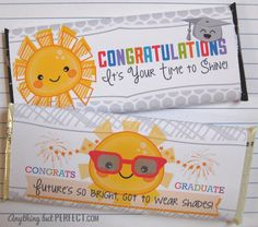 {Free Printable} Graduation Candy Bar Wrappers