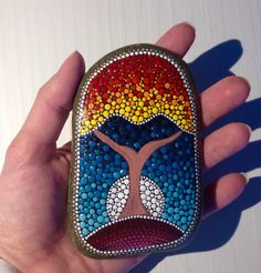 Big Tree of Life in autumn stone Painted by CreateAndCherish