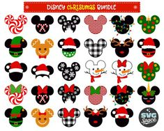 Christmas Disney Svg Christmas Bundle Svg Mickey M Disney Diy, Disney Home Decor, Disney Crafts, Disney Christmas Shirts, Minnie Mouse Christmas, Christmas Svg, Disney Christmas Nails, Disney Christmas Decorations, Xmas