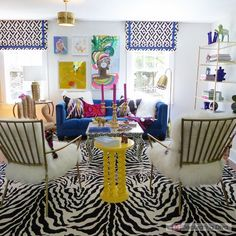 Contemporary Bohemian Chic meets Art Collector Style inspired interior. | The Decorating Diva, LLC