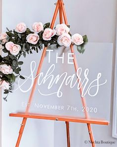 ⭐️ 2020 Wedding Trends ⭐️ Frosted Acrylic Welcome Wedding Signs Wedding Ceremony Signs, Wedding Signage, Top Wedding Trends, Welcome To Our Wedding, Personalized Signs, Event Decor, Frost, Hand Lettering, Wedding Decorations