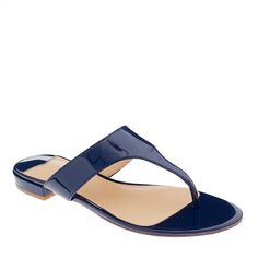 Tybee patent slide sandals @DownEast Basics #SpringStyle
