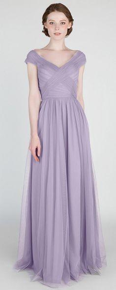 elegant Passion light purple tulle bridesmaid dresses #bridalparty #bridesmaiddresses #weddinginspiration