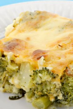 Broccoli Cheese Bake - try subbing coconut flour for the 2 Tbsp. regular flour for a low carb dish.