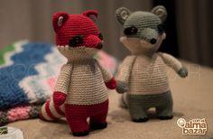 racoon - crochet - amigurumi - handmade - animals - toys - amigurumis follow me: facebook.com/conelalmabazar