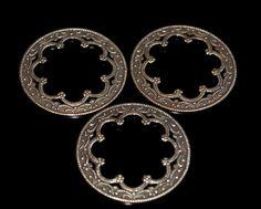 3 brass victorian filigree circles by themetalworx on Etsy, $1.90