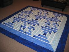 A quilt I made called Labyrinth Walk. Pattern in Quilt magazine April/May issue.