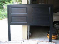 Door to head board....my door is still in the garage calling my name to fix it up!!
