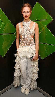 Karlie wearing Alexander McQueen.                  Image Source: Getty / David M. Benett