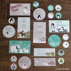 10 Sheets Merry Christmas Kraft Owl /& Tree Cake Packaging Label Sticker for Gift