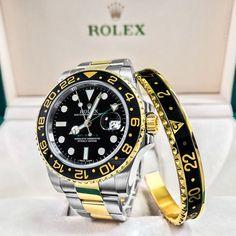 Two Tone Rolex GMT Master II w/ Matching Bezel Bracelet! $9500! . . . .