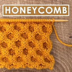 How to Knit the Honeycomb Cable Stitch with Free Written Pattern and Video Tutorial by Studio Knit. #knitstitchpattern #studioknit