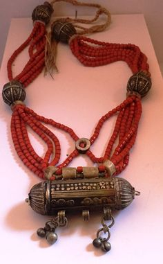 Hanging old Yemenite has hirz coral red fossil and bone! Coral, Fossil, Etsy, Jewelry, Red, Jewlery, Jewels, Fossils, Jewerly