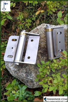 One of our slightly bigger safety gate spring hinges, made of stainless steel. Made in Finland, delivered worldwide! Visit our website to learn more! Safety Gates, Gates And Railings, Gate Hinges, Industrial Safety, Spring Hinge, Spring Steel, Installation Instructions, Finland, Stainless Steel