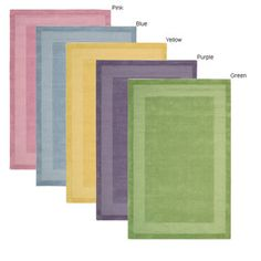@Overstock - Casual elegance and durable construction update your home or office decor Area rug hand-tufted of 100-percent wool pile Available in a Yellow, Blue, Lime, Pink, or Purple color schemehttp://www.overstock.com/Home-Garden/Hand-tufted-Westport-Wool-Rug-5-x-8/2338942/product.html?CID=214117 $166.99