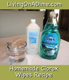 Homemade Clorox Disinfecting Wipes – Living on a Dime To Grow Rich – viki Homemade Disinfecting Wipes, Homemade Cleaning Wipes, Homemade Cleaning Supplies, Household Cleaning Tips, Cleaning Recipes, Cleaners Homemade, Cleaning Hacks, Diy Cleaners, Disinfectant Spray