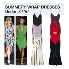"""""""Under $100: Summer Wrap Dress"""" by polyvore-editorial ❤ liked on Polyvore featuring moda, French Connection, Miss Selfridge, City Chic, MANGO, Dorothy Perkins, wrapdress ve under100"""
