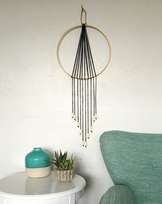 DIY Boho Wall Hanging made from an embroidery hoop, check out the tutorial to make your own– Kemley Design