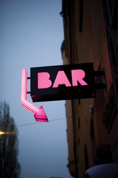 """I found myself a bar / Where all the lovely ladies offered me their help. Store Signage, Retail Signage, Wayfinding Signage, Signage Design, Bar Signs, Shop Signs, Signage Board, Neon Box, Sign Board Design"