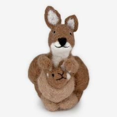The Au Gres Sheep Factory: Needlefelt Ornaments: Kangaroo