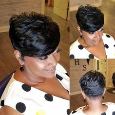 Short Pixie Haircuts, Cute Hairstyles For Short Hair, Wig Hairstyles, Straight Hairstyles, Curly Hair Styles, Natural Hair Styles, Short Quick Weave Hairstyles, Short Straight Hair, Short Hair Cuts