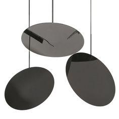 Hanging Hoop Lamp in glossy black | lighting . Beleuchtung . luminaires | Design: Nicola Nerboni | y lighting |