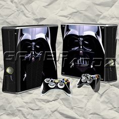 Darth Vader XBOX 360 Skin Set - Console with 2 Controllers