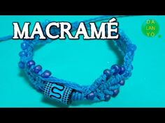 Micromacrame hojas azules degradé - YouTube