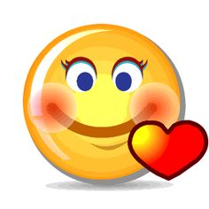 Smiley in Love Animated Smiley Faces, Smiley Emoticon, Funny Emoji Faces, Animated Emoticons, Funny Emoticons, Animated Gif, Love Smiley, Emoji Love, Emoji Images