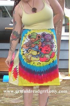 Grateful Dead Rainbow Big River Jamboree Dress by gr8fuldreadgrrl, $55.00
