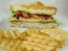 Denny's Club Sandwich  --  Nothing tastes as good as a Turkey Club Sandwich.   Here is Denny's sandwich.  You could adjust the ingredients to your liking ... but try this one first. It's really quite good.