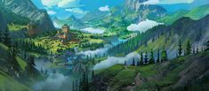 World Anvil is a worldbuilding tools platform and community for writers, RPG storytellers and worldbuilding lovers Landscape Concept, Fantasy Landscape, Chinese Landscape, Lord, Game Background, Fantasy Illustration, Fantastic Art, Awesome, Environmental Art