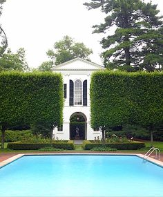 Legendary English garden designer Rosemary Verey created a wonderful walled garden for Peggy & Jack Crowe in Lake Forest, Illinois, anchored by an exacting replica of a 1793 folly, now used as a pool house.