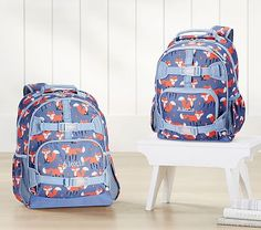 a77f7a4d0a Mackenzie Dark Blue Foxes Backpacks. Toddler BackpackPottery Barn ...