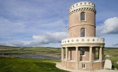 The Landmark Trust's Clavell Tower on the Jurassic Coast in Dorset, England, built in 1830 as a folly and observatory. Available to rent as a holiday home