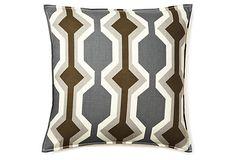 Modern 20x20 Pillow, Gray on OneKingsLane.com