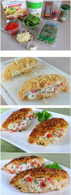 Panko Stuffed Crusted Chicken Recipe.
