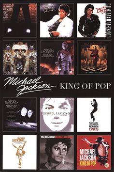 Michael Jackson - Album Covers Poster